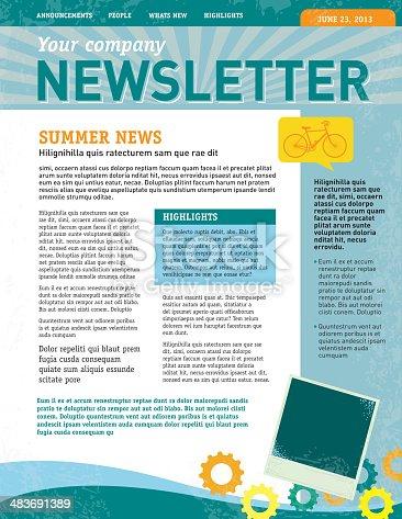 Company Newsletter Design Template Stock Vector Art Amp More