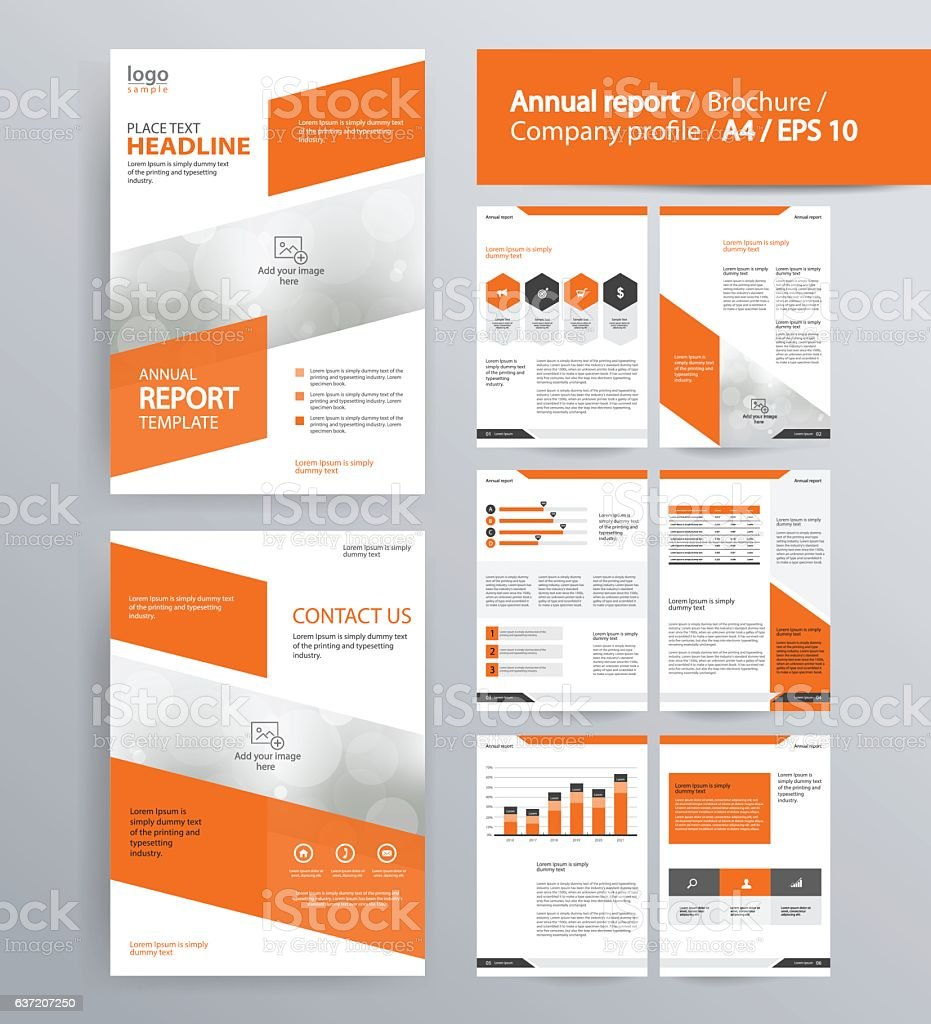 company profile annual report brochure and flyer layout template