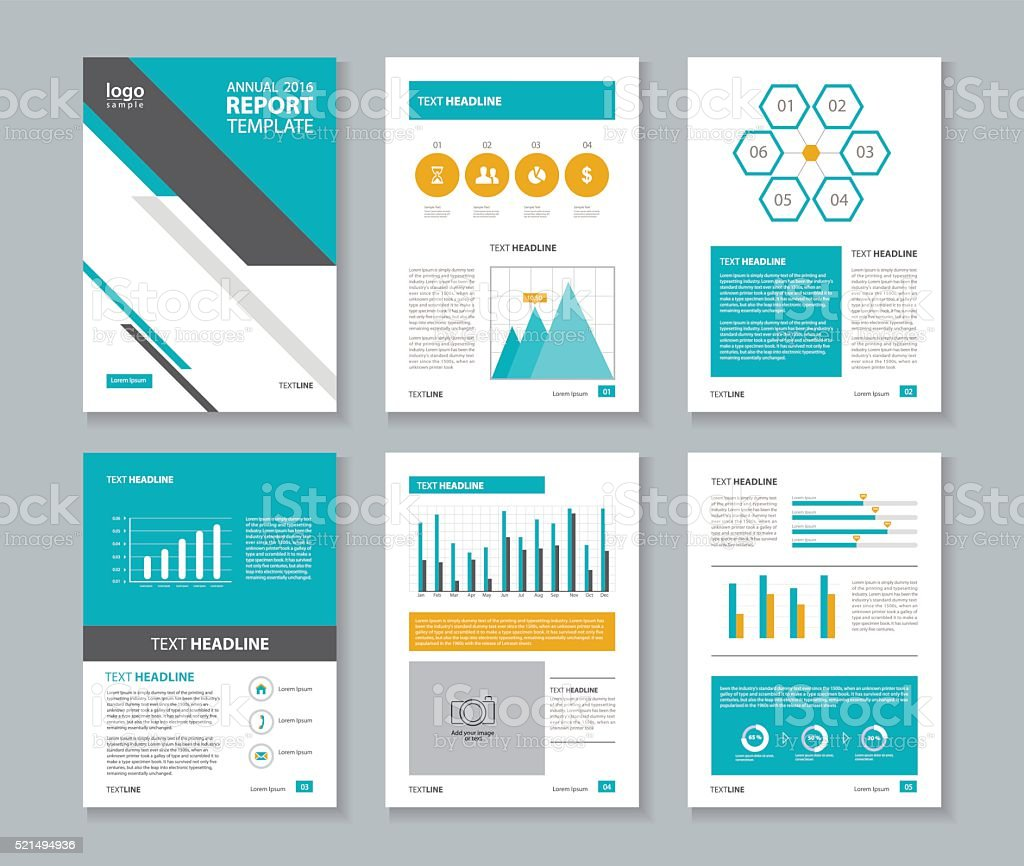 Company Profile Annual Report Brochure Flyer Layout Template Stock ...