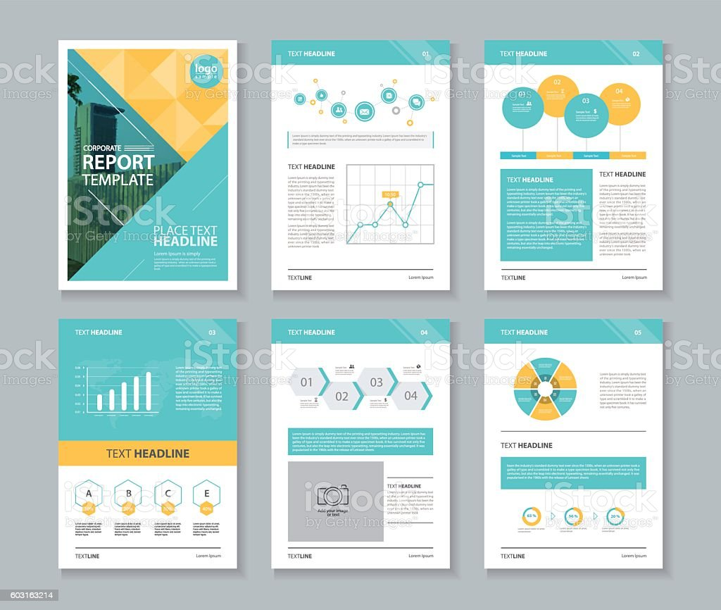 Unternehmensprofil Jahresbericht Broschüre Flyer Layoutvorlage Stock ...