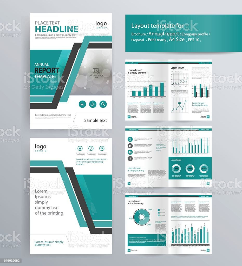 Company profile annual report brochure template stock for Company brochure template