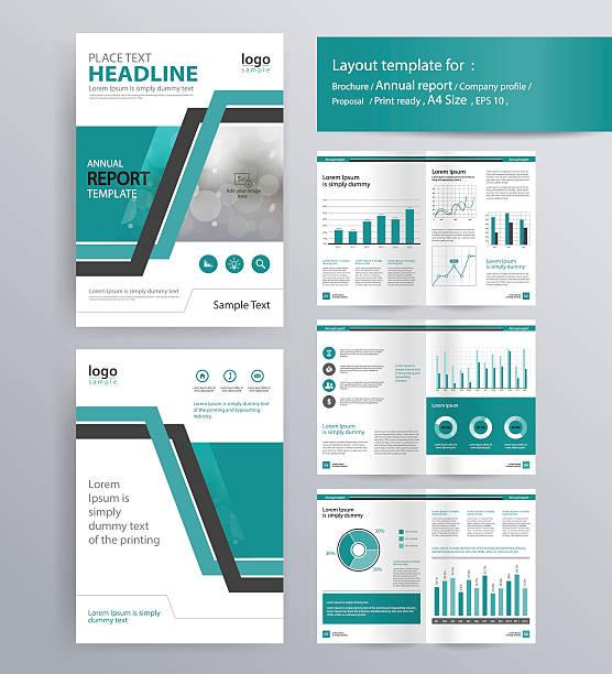 company profile, annual report, brochure,  template. - zeitschrift grafiken stock-grafiken, -clipart, -cartoons und -symbole