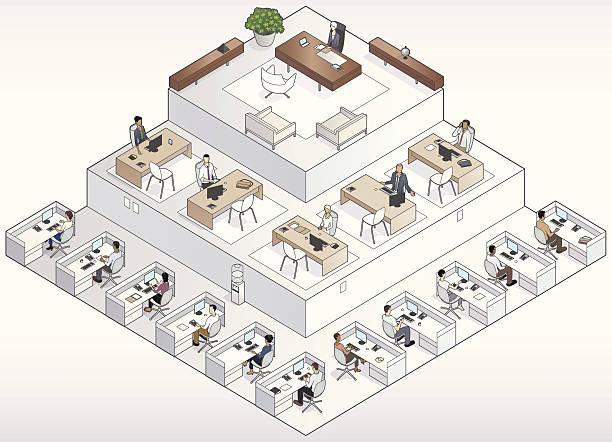 Company Pyramid vector art illustration