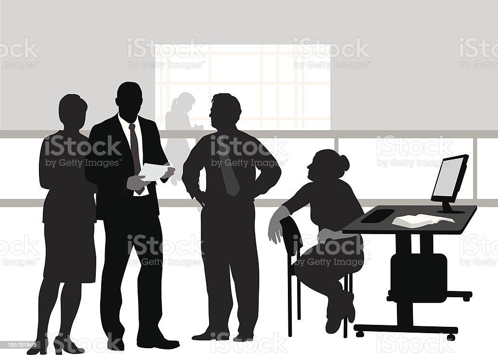 Company Time Vector Silhouette royalty-free stock vector art