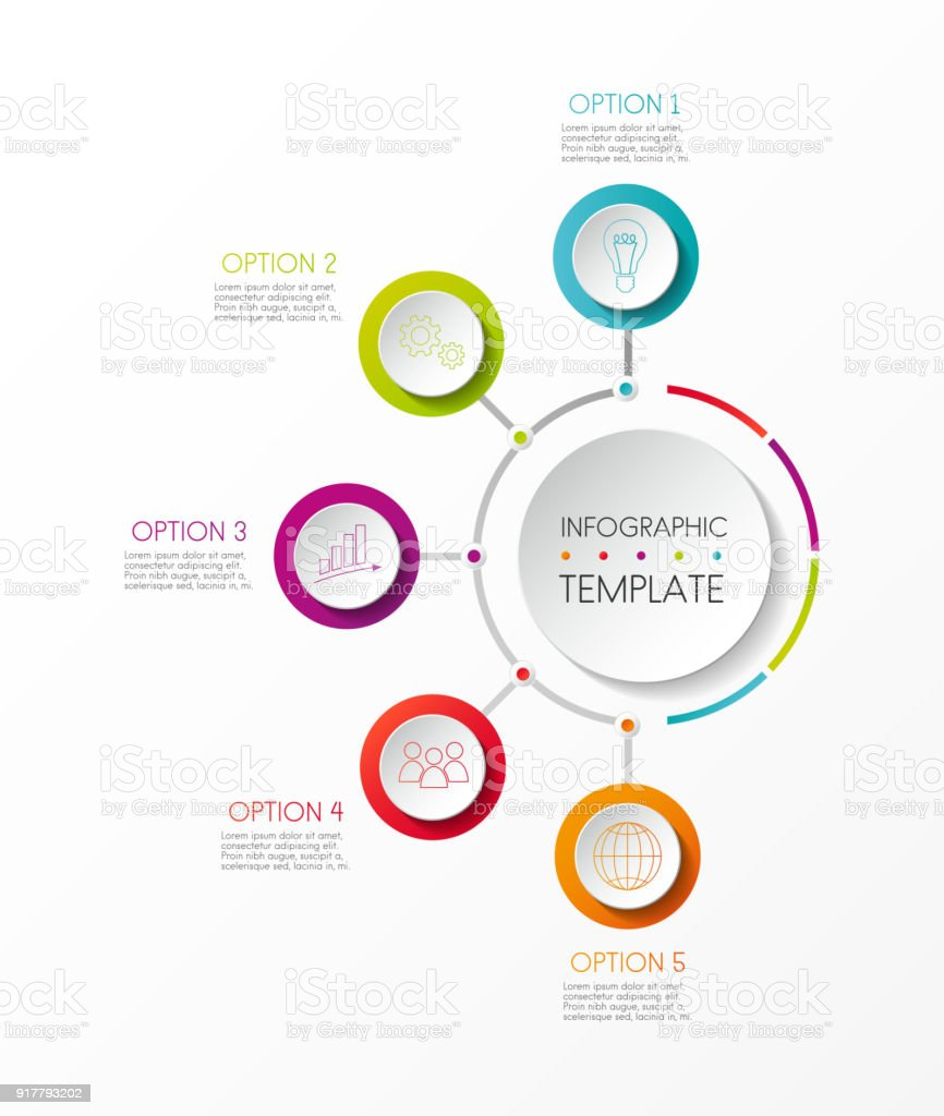Company timeline - colourful infographic. Vector. vector art illustration