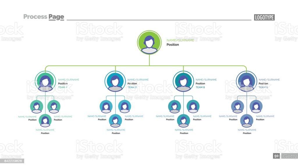 Company tree slide template vector art illustration