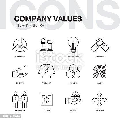 Company Values Line Icons