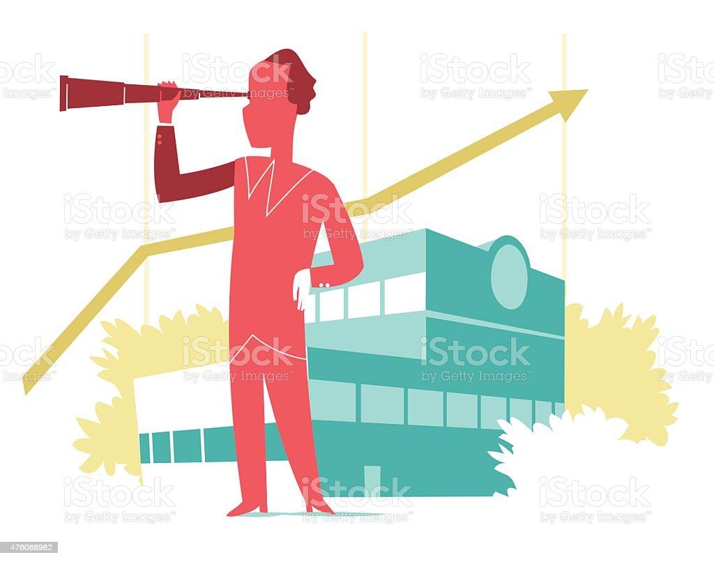 Company Vision vector art illustration