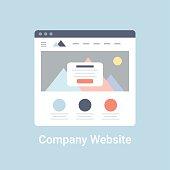 istock Company Website Wireframe 484965326