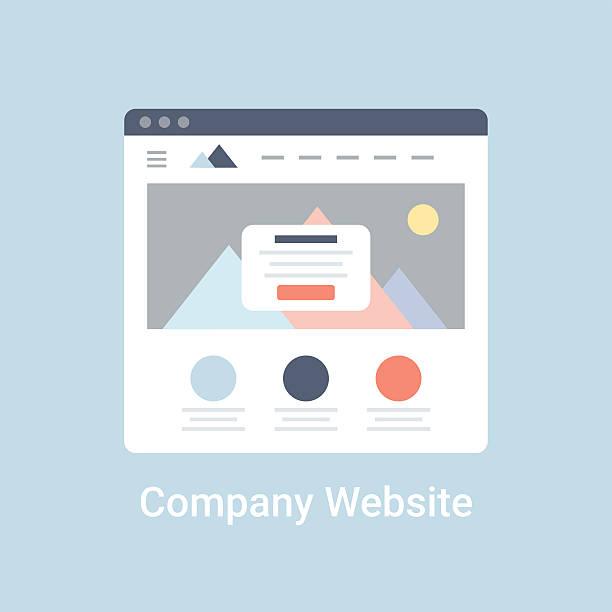 firmowa strona internetowa szkielet - strona startowa stock illustrations