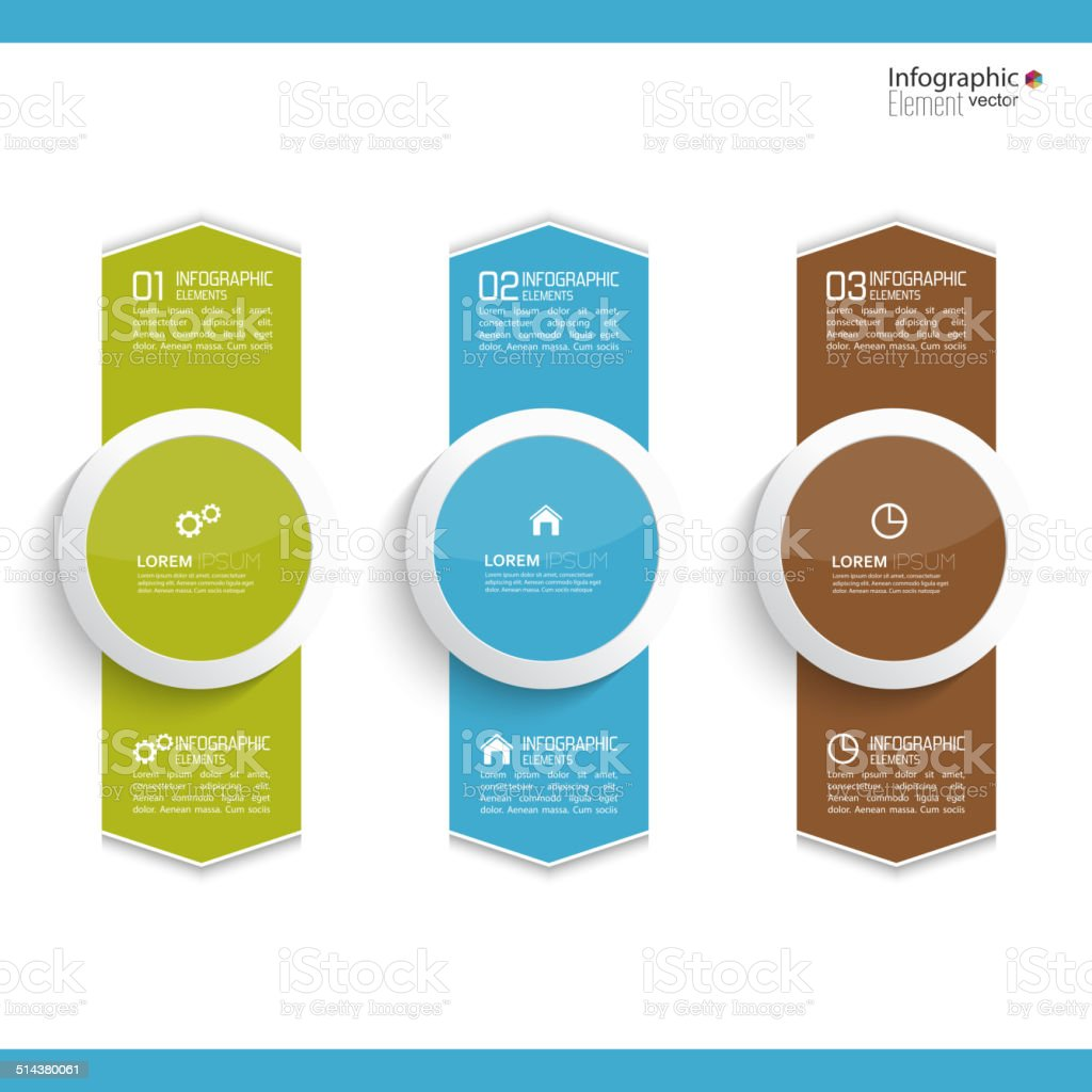 Comparative chart with templates for presentation vector art illustration