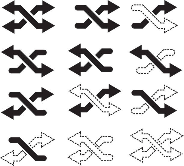 Compare Icon Set This file is EPS 10 Vector file. crisscross stock illustrations