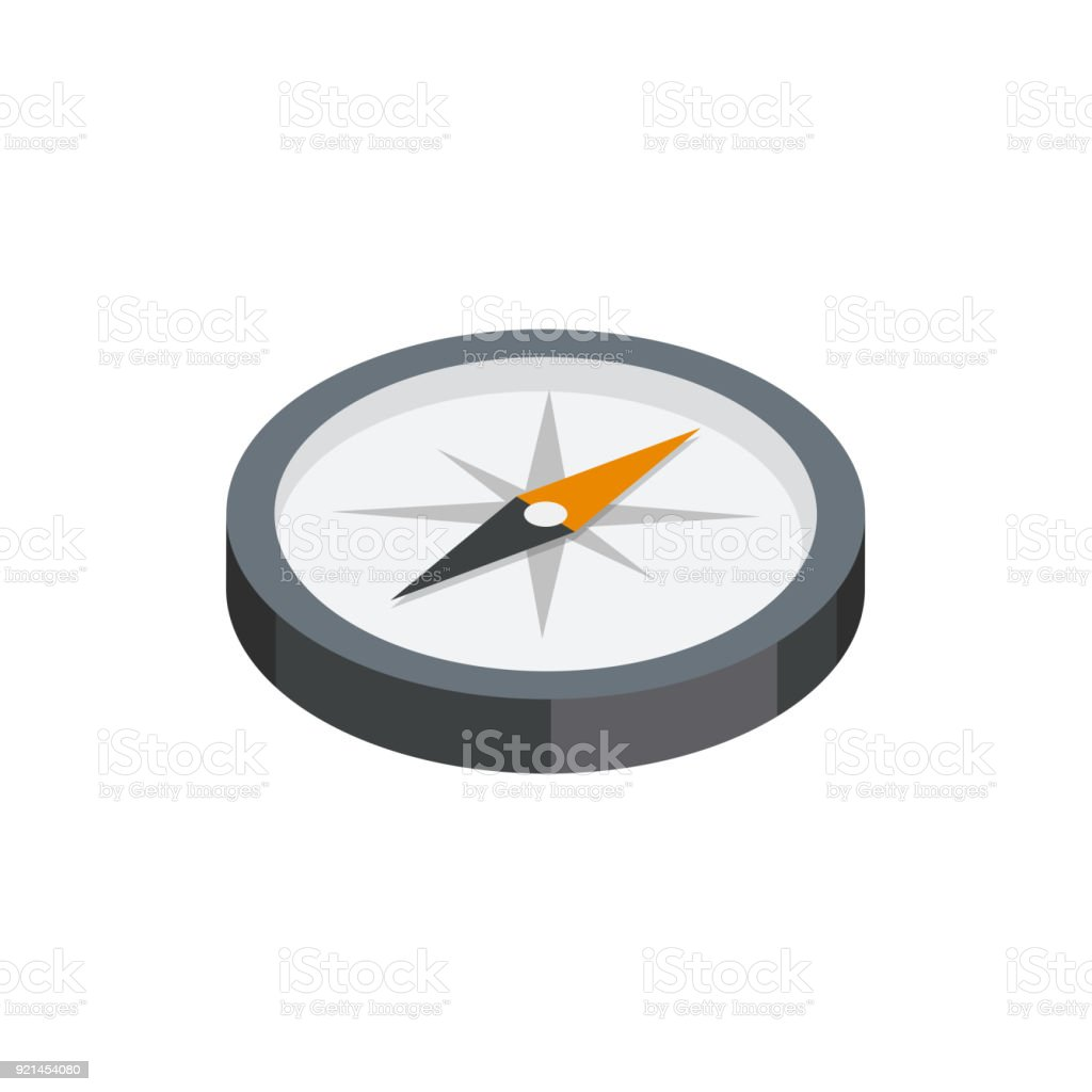 Compass 3D isometric icon vector art illustration
