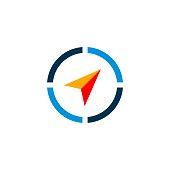 istock Compass Arrow vector Logo Template Illustration Design. Vector EPS 10. 1214526446