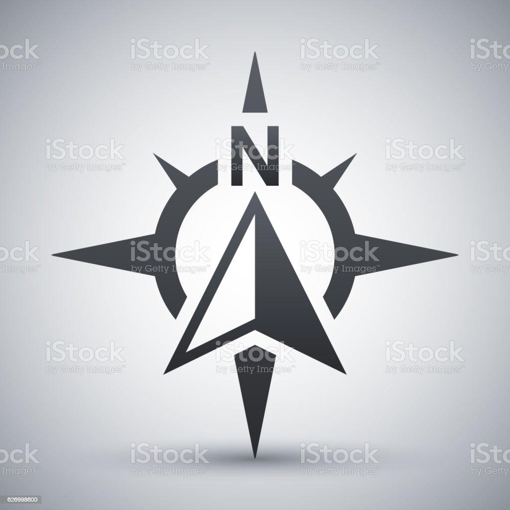 Brújula concepto icono, Vector de - ilustración de arte vectorial