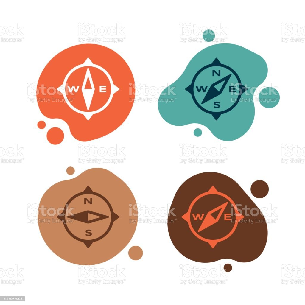 Compass Direction Symbols vector art illustration