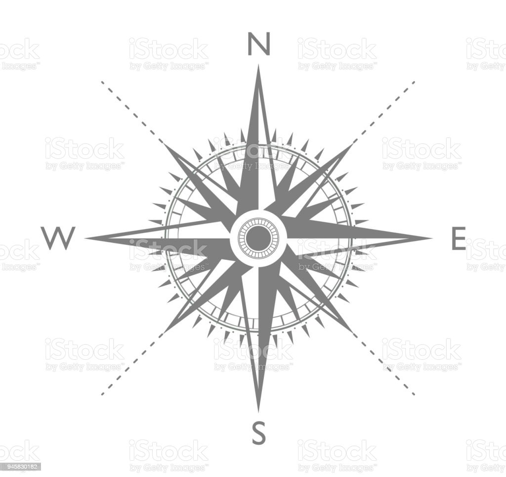 Compass flat icon vector art illustration