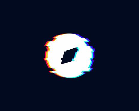 Compass Glitch Icon