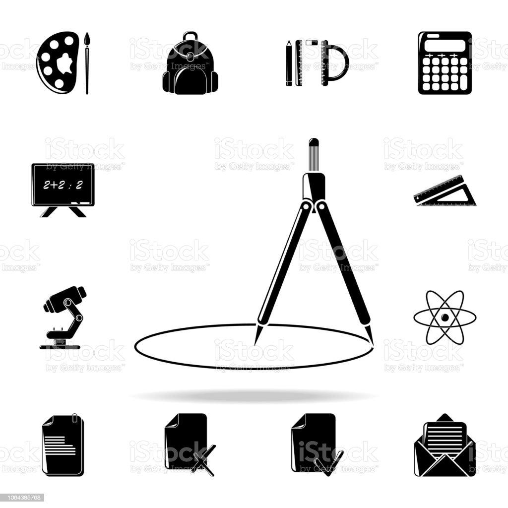 ícone de bússola. Conjunto de ícones de educação universais para web e mobile - ilustração de arte em vetor