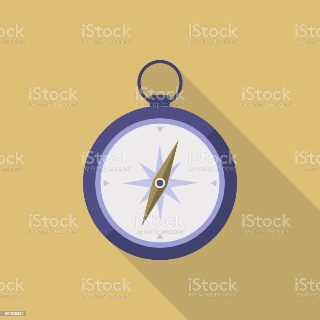 Compass Icon Flat Design - Royalty-free Direction stock vector