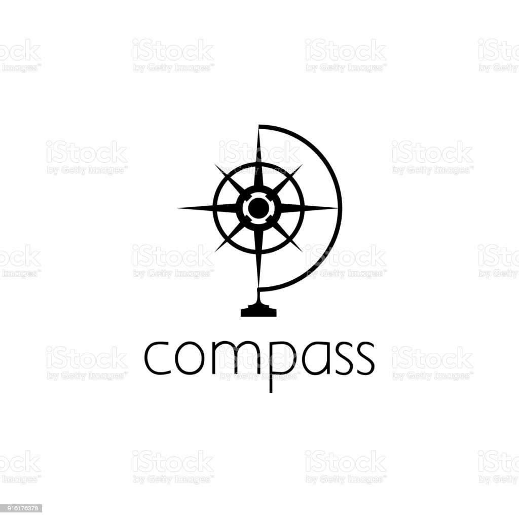 compass icon graphic design concept vector art illustration