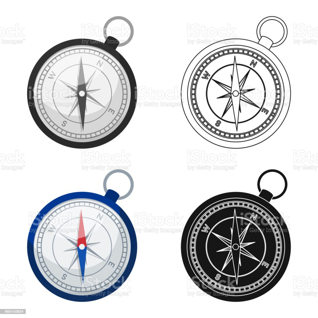Compass icon in cartoon style isolated on white background. Rest and travel symbol stock vector web  illustration. royalty-free compass icon in cartoon style isolated on white background rest and travel symbol stock vector web illustration stock vector art & more images of adventure