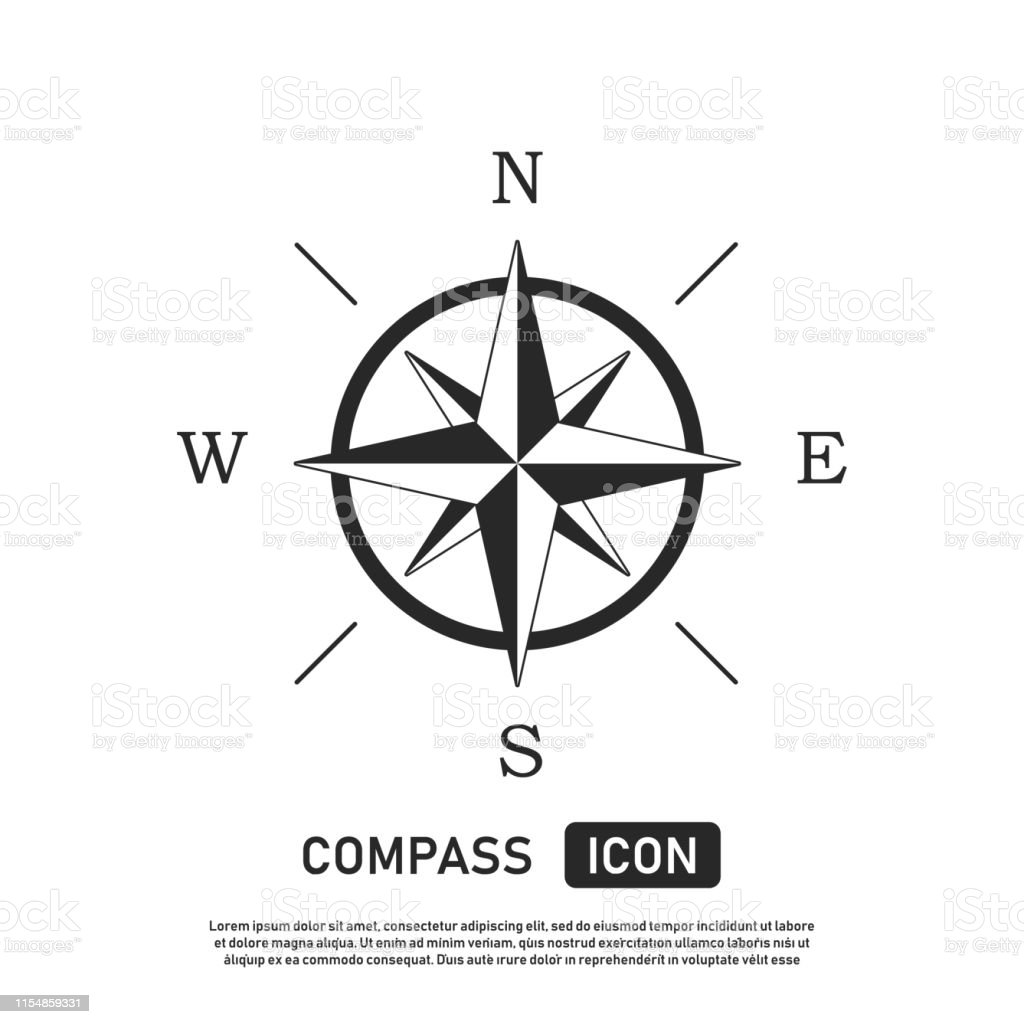 Compass Icon Location Symbol West North South East ...