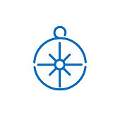 compass icon Logo illustration. Summer Icons Set Outline Holiday, Tour and travel outline icon set vector. Simple Modern graphic flat design design concepts.