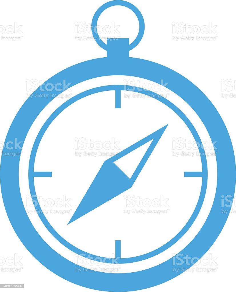 Compass icon, modern minimal flat design style, vector illustration vector art illustration