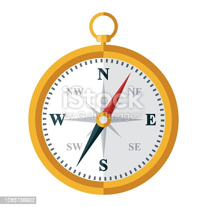 istock Compass Icon on Transparent Background 1283736602
