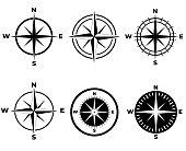 Compass icon seto isolated on white background