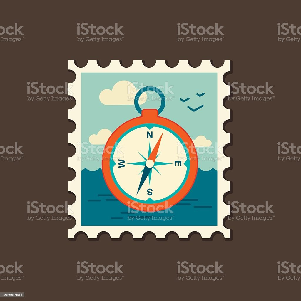 Compass icon. Summer. Marine vector art illustration