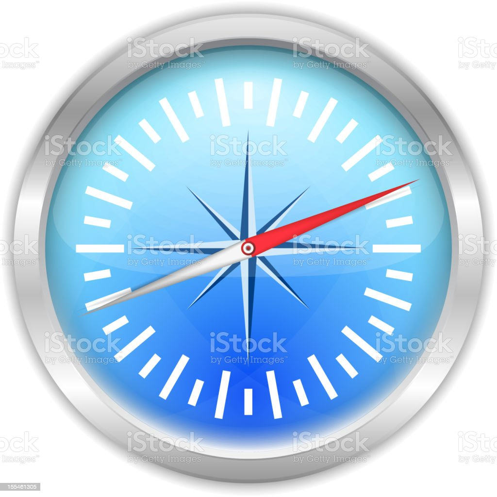 Compass Icon royalty-free stock vector art