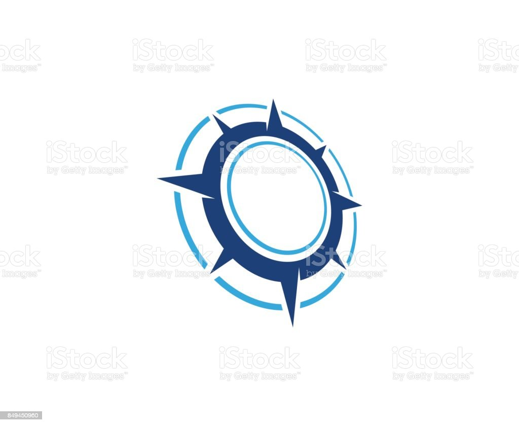 Compass icon vector art illustration