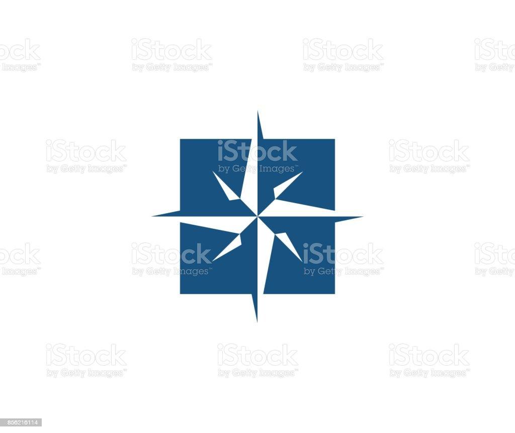 Icône de rose des vents - Illustration vectorielle