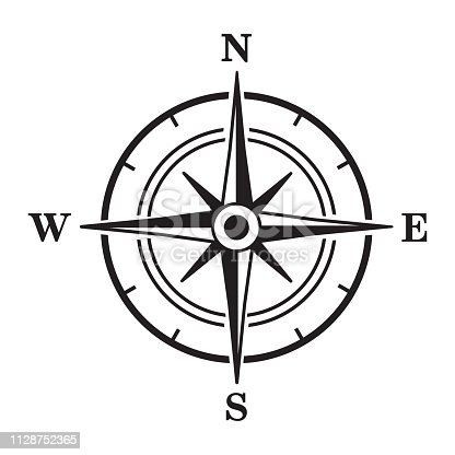 Compass icon. Vector illustration