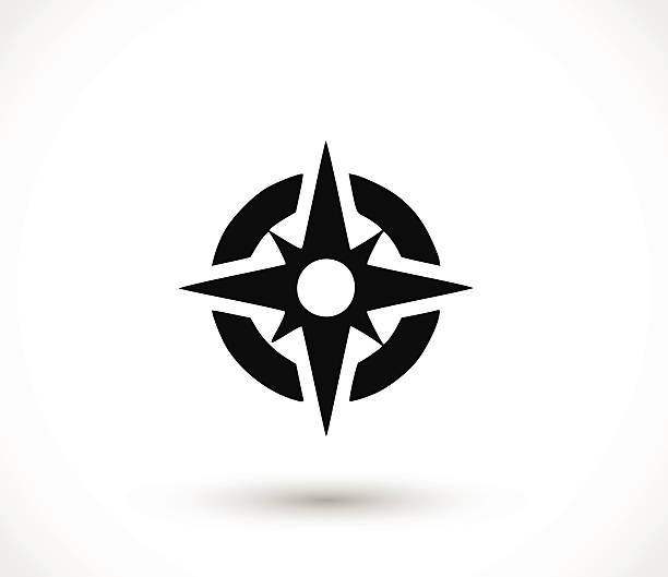 compass icon vector illustration - compass stock illustrations