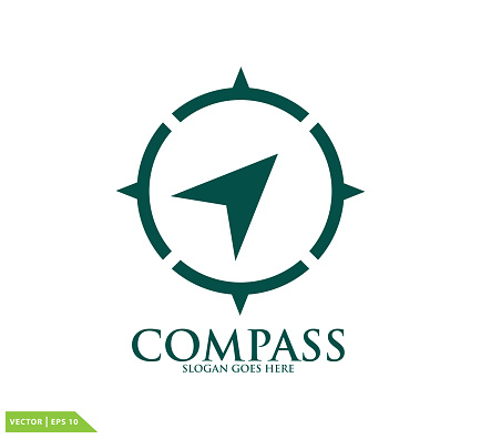 Compass icon vector logo design template