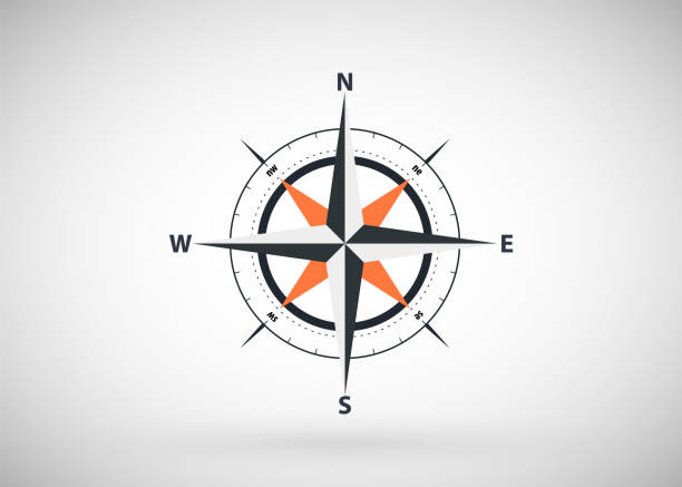 compass icon vector. simple flat symbol. vector compass design - compass stock illustrations