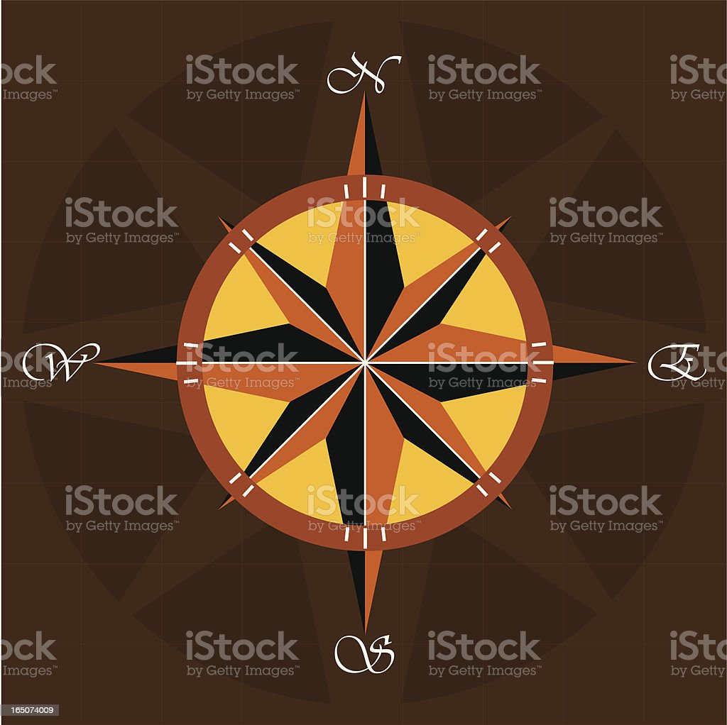 Compass III royalty-free stock vector art