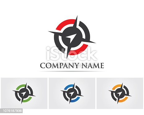 Compass logo  signs and symbols