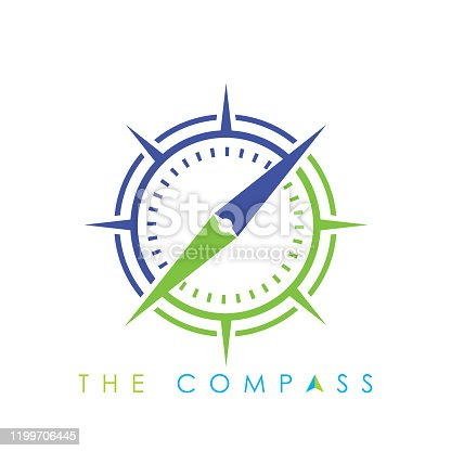 Compass Logo Vector Icon. Modern Navigation Symbol. Location Logo Design template, Creative Compass Concept Logo Design, compass navigation logo icon vector template.
