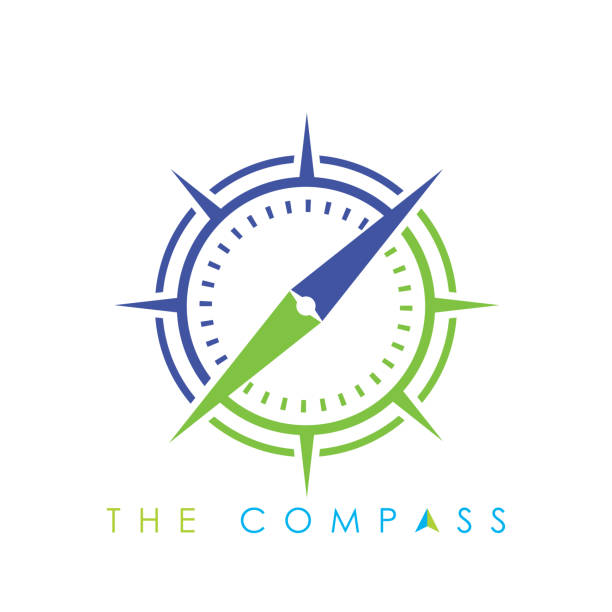 compass logo vector icon. modern navigation symbol. - compass stock illustrations