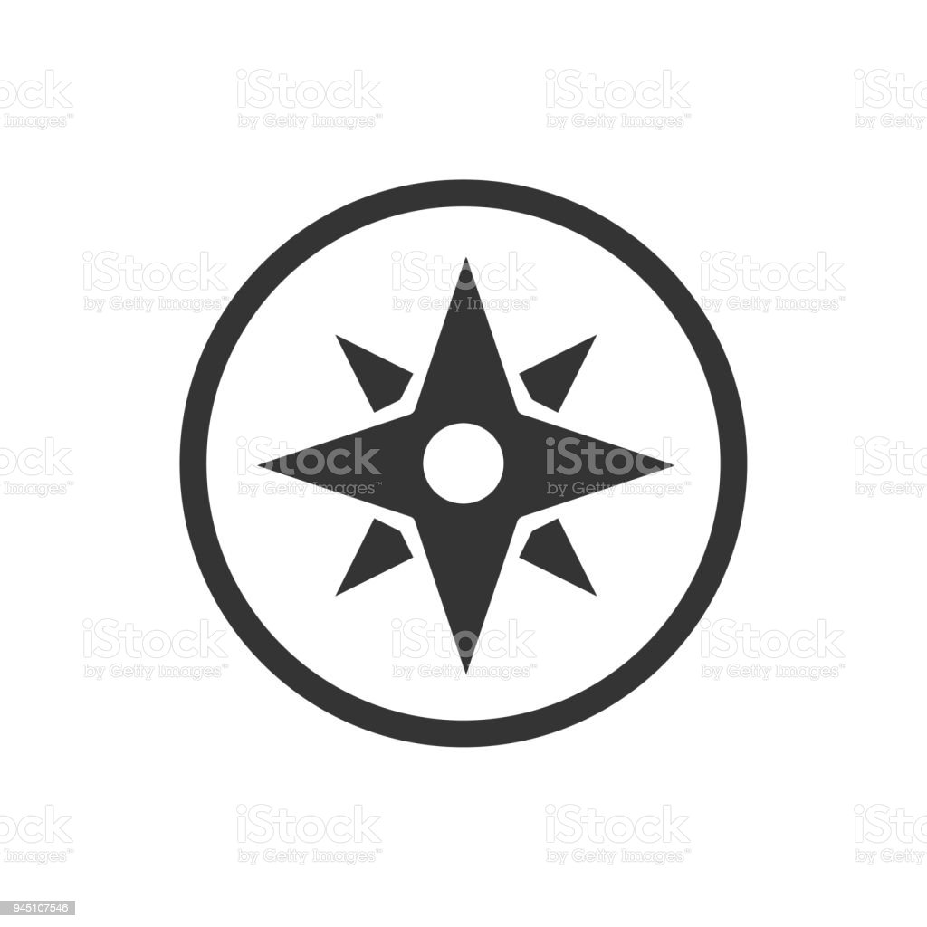 Compass Navigation Icon vector art illustration