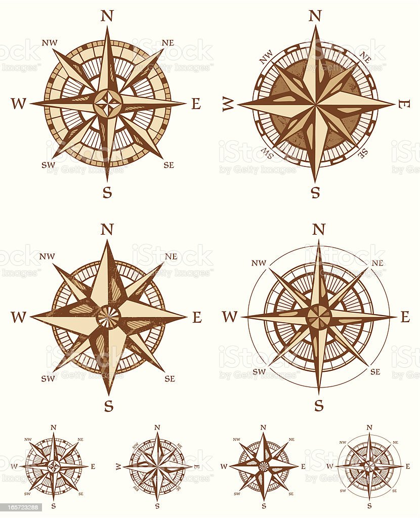 Four different Compass Rose