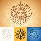 Compass rose design.