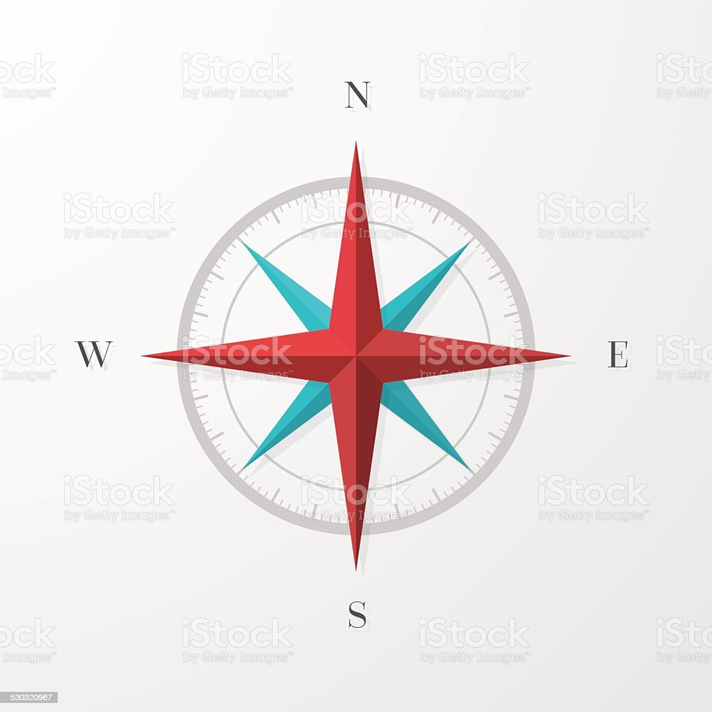 Compass Rose vector art illustration
