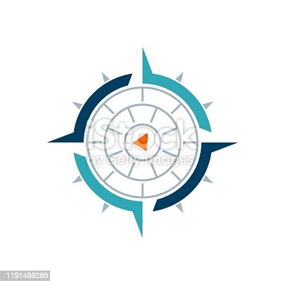 Compass Rose Vector Logo Template Illustration Design. Vector EPS 10.