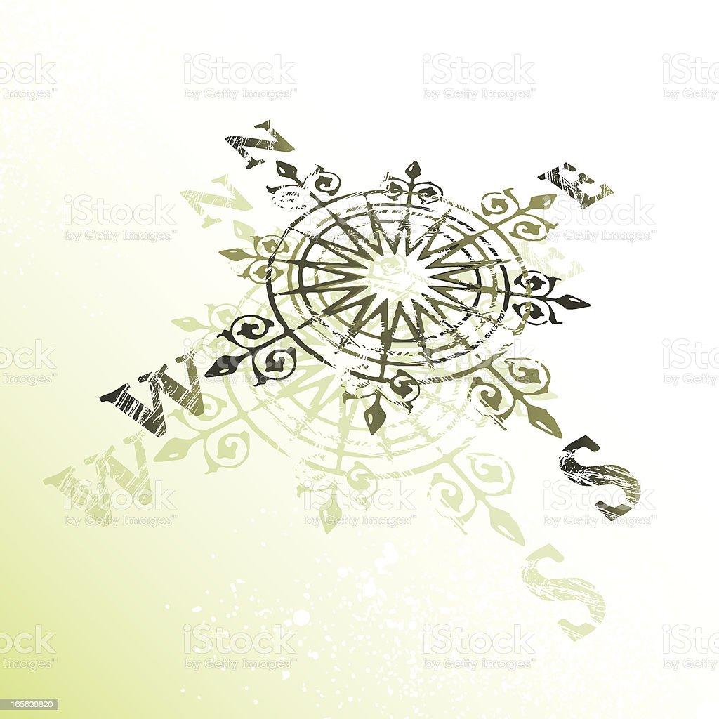 brujula vector art illustration
