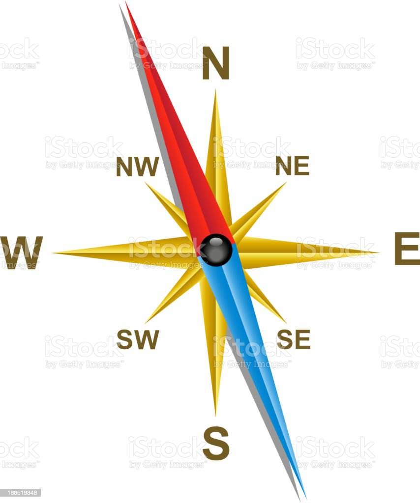 Compass royalty-free compass stock illustration - download image now
